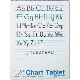 "Pacon® Chart Tablets w/Manuscript Cvr 74710, 24"" x 32"", White, 25 Sheets/Pack"