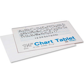 "Pacon® Chart Tablets w/Manuscript Cvr 74720, 16"" x 24"", White, 25 Sheets/Pack"
