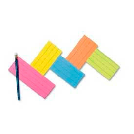 """Pacon® Peacock Flash Cards, 3"""" x 9"""", Super Bright, 100 Cards/Pack"""