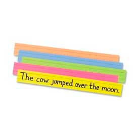 "Pacon® Peacock Sentence Strips, 3"" x 24"", Super Bright, 100 Cards/Pack"