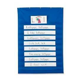 "Pacon® Standard Pocket Chart, 34"" x 50"", Blue"