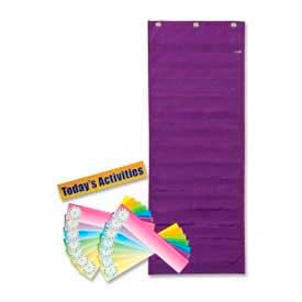 "Pacon® Dry Erase Activity Pocket Chart, 14 Rows, 13"" x 34"", Purple"
