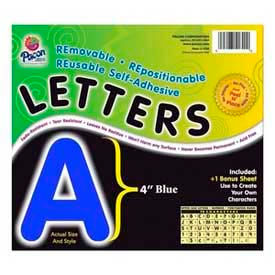 """Pacon® 4"""" Self-Adhesive Letters, Blue, 78 Characters/Pack"""