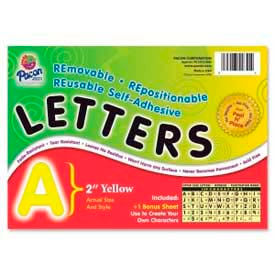 """Pacon® 2"""" Self-Adhesive Letters, Yellow, 159 Characters/Set"""