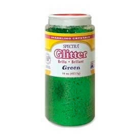 Pacon® Sparkling Crystals Glitter, 16 oz., Green