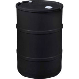 US Roto Molding 30 Gallon Plastic Drum SS-CH-30 - Closed Head with Bung Cover - Lever Lock - Black