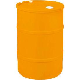 US Roto Molding 30 Gallon Plastic Drum SS-CH-30 - Closed Head with Bung Cover - Lever Lock - Orange