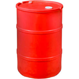 US Roto Molding 30 Gallon Plastic Drum SS-CH-30 - Closed Head with Bung Cover - Lever Lock - Red