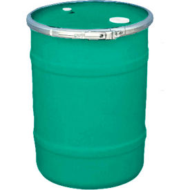 US Roto Molding 15 Gallon Plastic Drum SS-OH-15 - Open Head with Bung Cover - Bolt Ring - Green