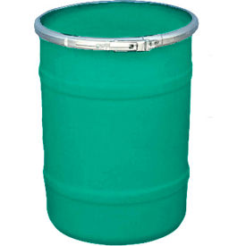 US Roto Molding 15 Gallon Plastic Drum SS-OH-15 - Open Head with Plain Lid - Bolt Ring - Green