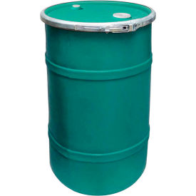 US Roto Molding 20 Gallon Plastic Drum SS-OH-20 - Open Head with Bung Cover - Bolt Ring - Green