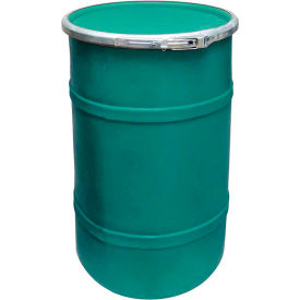 US Roto Molding 20 Gallon Plastic Drum SS-OH-20 - Open Head with Plain Lid - Lever Lock - Green
