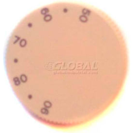 PECO Horizontal Knob 65504, Marked w/Degrees F, For PECO T155 And T167 Series Thermostats-Pkg Qty 10