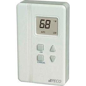PECO Trane Compatible Zone Sensor SDP155-008 Digital Display, Temp Adjust, On, Cancel, Comm Jack