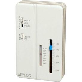 PECO Trane Compatible Zone Sensor SP155-009 Heat-Off-Cool Switch, On-Auto Fan Control, Temp Adjust