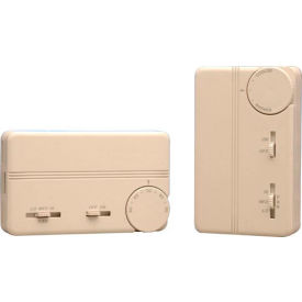 PECO Fan Coil Thermostat With On-Off Switch, 3-Speed Control and Terminal Block