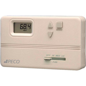 PECO Modulating Fan Coil Thermostat W/ Auto-Heat-Cool-Off Switch, Off-Hi-Med-Lo Fan Control, 3-Wire