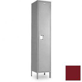 """Penco 6184G-1W-KD-736 Guardian Locker Single Tier 1 Wide, 12""""W x 15""""D x 48-1/2""""H, Burgundy"""