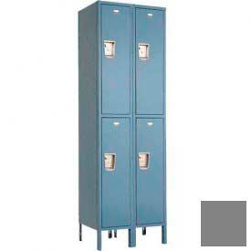 "Penco 6231M-2W-KD-028 Guardian Medallion Locker Double Tier 2 Wide, 12""W x 12""D x 36""H, Gray"