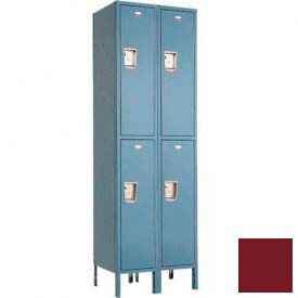 "Penco 6247G-2W-KD-736 Guardian Locker Double Tier 2 Wide, 18""W x 18""D x 36""H, Burgundy"