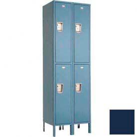 """Penco 6249G-2W-KD-822 Guardian Locker Double Tier 2 Wide, 18""""W x 21""""D x 36""""H, Regal Blue"""