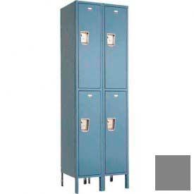 """Penco 6257G-2W-KD-028 Guardian Locker Double Tier 2 Wide, 15""""W x 21""""D x 30""""H, Gray"""