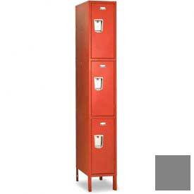 """Penco 6407G-1W-KD-028 Guardian Locker Triple Tier 1 Wide, 12""""W x 12""""D x 20""""H, Gray"""