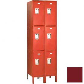 "Penco 6407G-2W-KD-736 Guardian Locker Triple Tier 2 Wide, 12""W x 12""D x 20""H, Burgundy"
