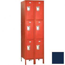 """Penco 6407G-2W-KD-822 Guardian Locker Triple Tier 2 Wide, 12""""W x 12""""D x 20""""H, Regal Blue"""