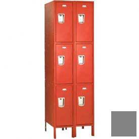 """Penco 6421G-2W-KD-028 Guardian Locker Triple Tier 2 Wide, 12""""W x 15""""D x 24""""H, Gray"""