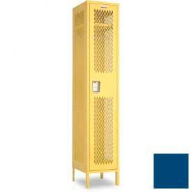 "Penco 6A121-052 Invincible II Locker, 1 Tier Basic Unit, 24""W X 24""D X 60""H, Reflex Blue"