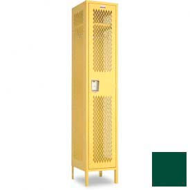 "Penco 6A133-812 Invincible II Locker, 1 Tier Basic Unit, 12""W X 21""D X 60""H, Hunter Green"