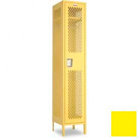 "Penco 6A182-056 Invincible II Locker, 1 Tier Basic Unit, 24""W X 15""D X 72""H, Sunburst"