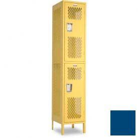 "Penco 6A231-052 Invincible II Locker, 2 Tier Basic Unit, 18""W X 24""D X 30""H, Reflex Blue"