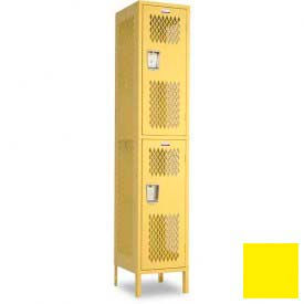 "Penco 6A257-056 Invincible II Locker, 2 Tier Basic Unit, 15""W X 15""D X 36""H, Sunburst"