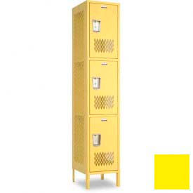 "Penco 6A283-056 Invincible II Locker, 3 Tier Basic Unit, 12""W X 15""D X 24""H, Sunburst"