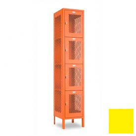 "Penco 6A309-056 Invincible II Locker, 4 Tier Basic Unit, 12""W X 15""D X 15""H, Sunburst"