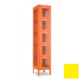 "Penco 6A357-056 Invincible II Locker, 5 Tier Basic Unit, 15""W X 15""D X 12""H, Sunburst"