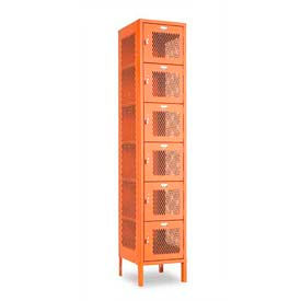 "Penco 6A377-722 Invincible II Locker, 6 Tier Basic Unit, 12""W X 15""D X 12""H, Patriot Red"