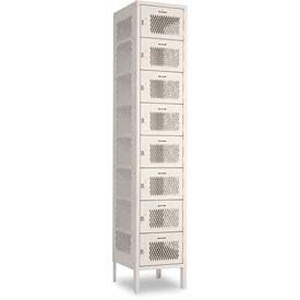 "Penco 6A403-052 Invincible II Locker, 8 Tier Basic Unit, 15""W X 18""D X 9""H, Reflex Blue"