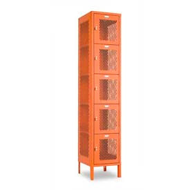 "Penco 6A447-722 Invincible II Locker, 5 Tier Basic Unit, 18""W X 21""D X 14-2/5""H, Patriot Red"
