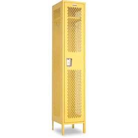 "Penco 6A500-052 Invincible II Locker, 1 Tier Basic Unit, 18""W X 12""D X 72""H, Reflex Blue"