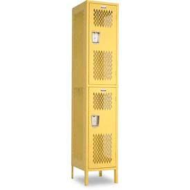 "Penco 6A508-056 Invincible II Locker, 2 Tier Basic Unit, 18""W X 12""D X 36""H, Sunburst"