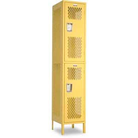 "Penco 6A508-812 Invincible II Locker, 2 Tier Basic Unit, 18""W X 12""D X 36""H, Hunter Green"