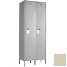 "Penco 6C101-2W-KD-073 Guardian Plus Locker, Single Tier 2 Wide, 9""W x 12""D x 60""H, Champagne"