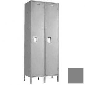 """Penco 6C173-2W-KD-028 Guardian Plus Locker, Single Tier 2 Wide, 15""""W x 18""""D x 72""""H, Gray"""