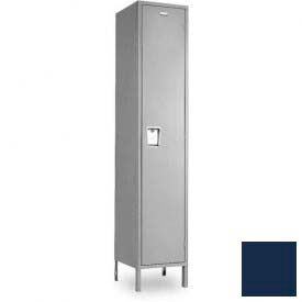 """Penco 6C184-1W-KD-822 Guardian Plus Locker, Single Tier 1 Wide, 12""""W x 15""""D x 48-1/2""""H, Regal Blue"""