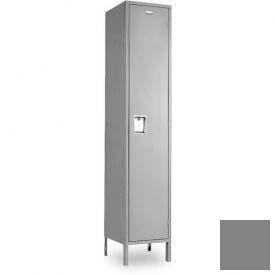 """Penco 6C187-1W-KD-028 Guardian Plus Locker, Single Tier 1 Wide, 12""""W x 18""""D x 48-1/2""""H, Gray"""