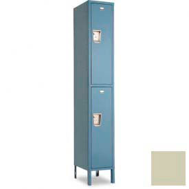 "Penco 6E247-1W-KD-073 Guardian Defiant II Locker Double Tier 1 Wide, 18""W x 18""D x 36""H, Champagne"