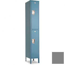 "Penco 6E279-1W-KD-028 Guardian Defiant II Locker Double Tier 1 Wide, 18""W x 15""D x 30""H, Gray"